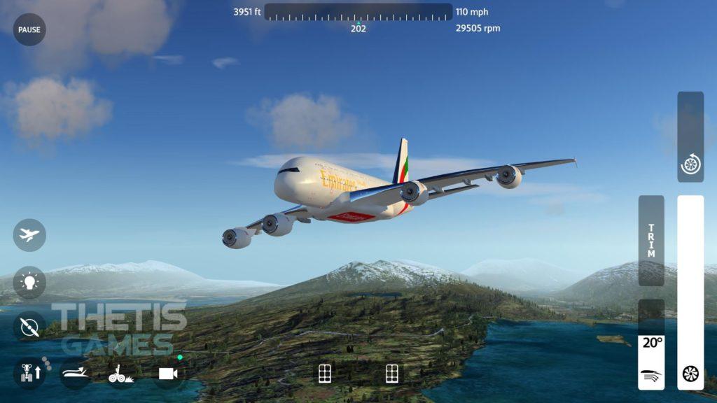 دانلود Flight Simulator 2018 FlyWings Full 2.2.4 - بازی شبیه سازی پرواز 2018 اندروید + دیتا