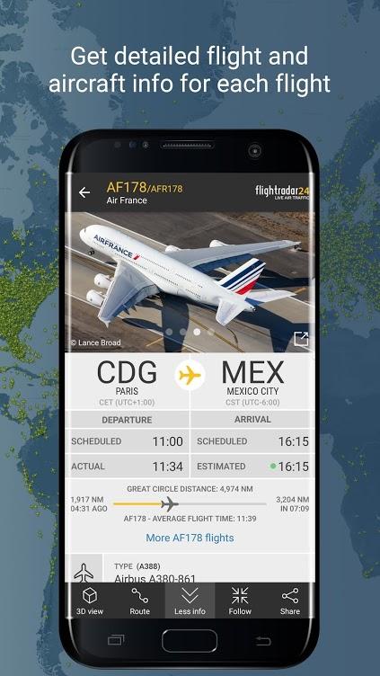 دانلود Flightradar24 Flight Tracker Full 8.7.0 - اپلیکیشن اطلاعات هواپیماهای در حال حرکت مخصوص اندروید!