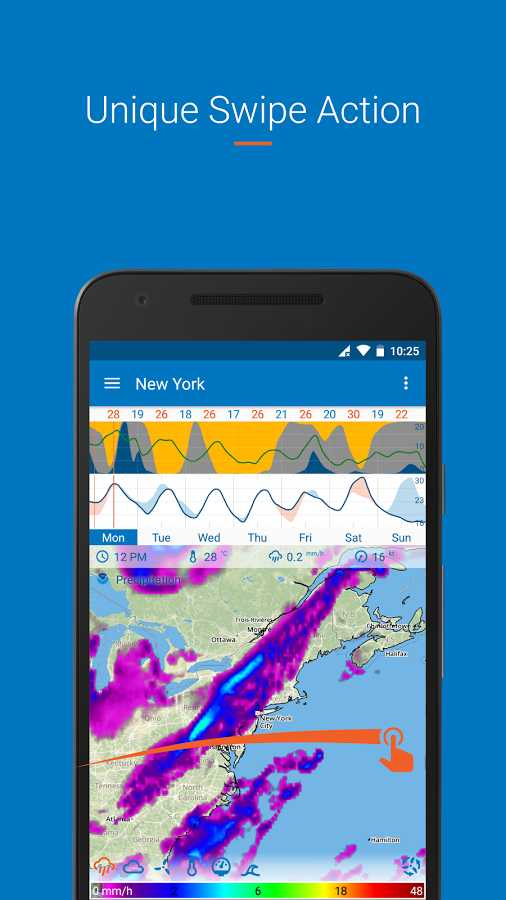 دانلود Flowx Full 3.040 - برنامه قدرتمند پیش بینی آب و هوا اندروید + مود