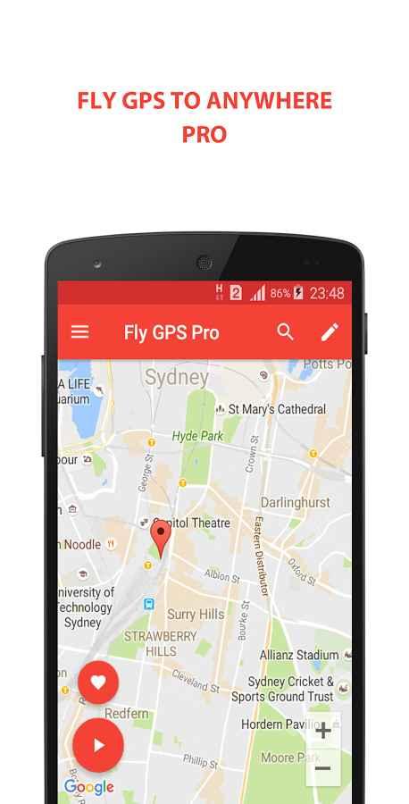 دانلود Fly GPS Pro (No Ads) 3.3.3 - برنامه موقعیت مکانی جعلی اندروید!