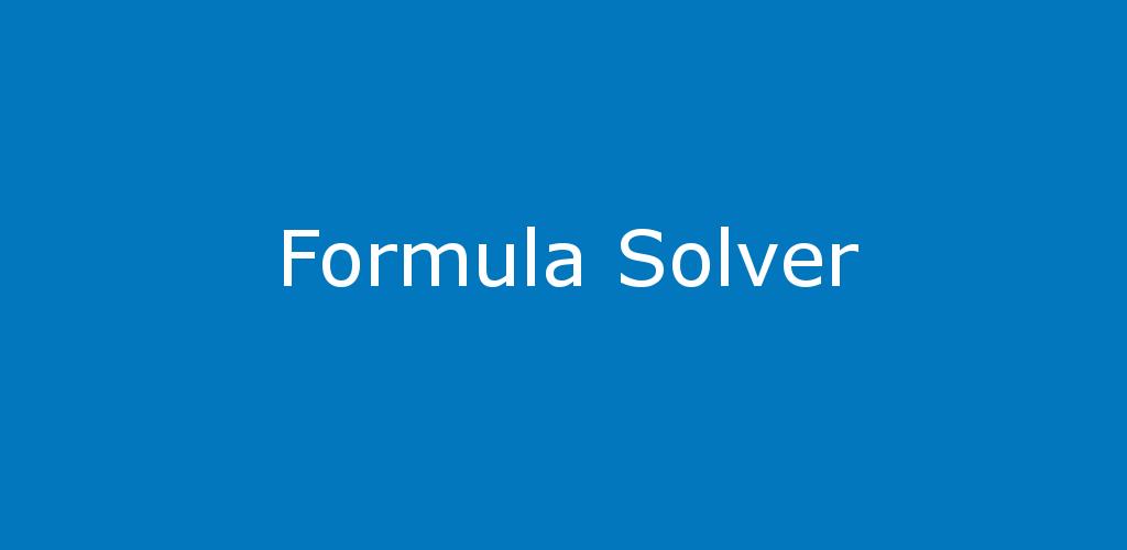Formula Solver