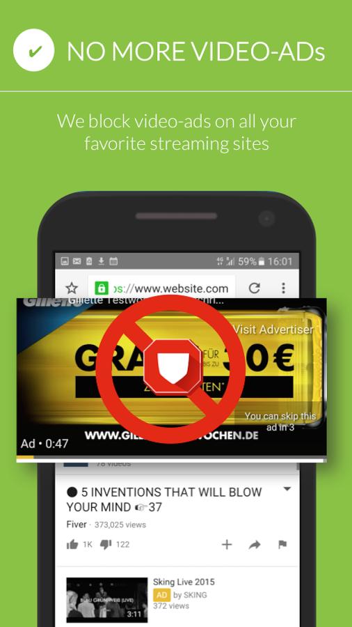 دانلود Free Adblocker Browser 72.0.2016123133 - مرورگر پر سرعت و ضد تبلیغ اندروید
