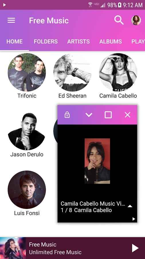 دانلود Free Music Premium 1.034 - پلیر و پخش آنلاین موسیقی اندروید !