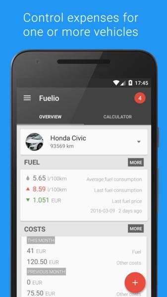 دانلود Fuelio: Gas log & costs Pro 7.3.9 - برنامه مدیریت سوخت و هزینه ها ماشین اندروید