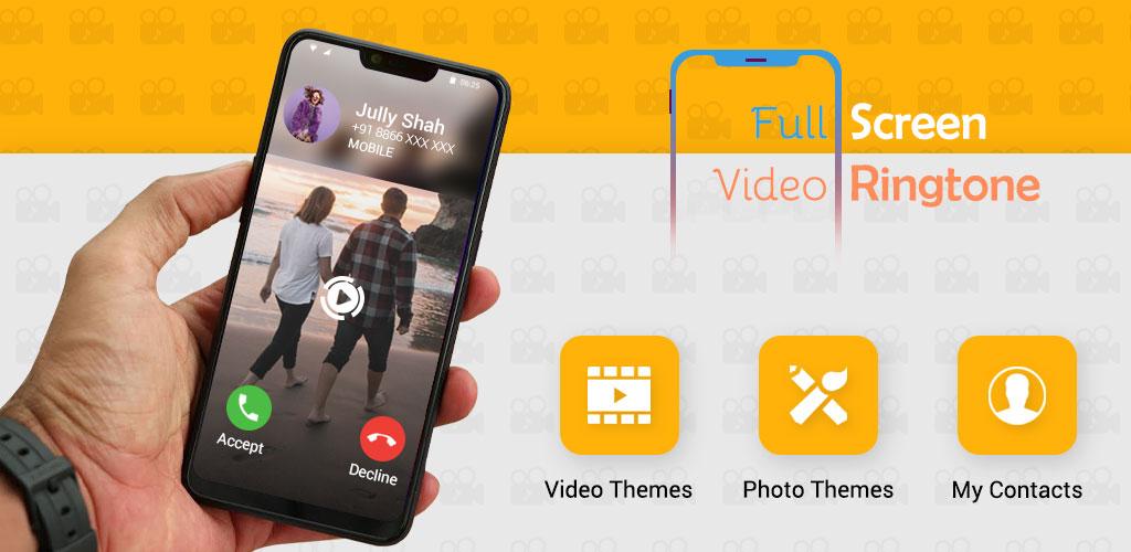 Full Screen Video Ringtone Color Phone Flash