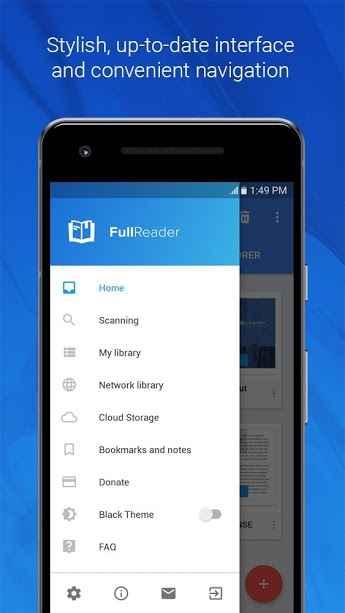 دانلود FullReader - All E-Book Formats Reader Premium 4.1.6 - برنامه کتاب خوان الکترونیکی چند منظوره و قدرتمند فول ریدر اندروید!