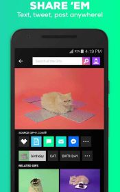 GIPHY Animated GIFs Search Engine.4 175x280 دانلود GIPHY – Animated GIFs Search Engine 2.7.2 – مجموعه تصاویر گیف آندروید !