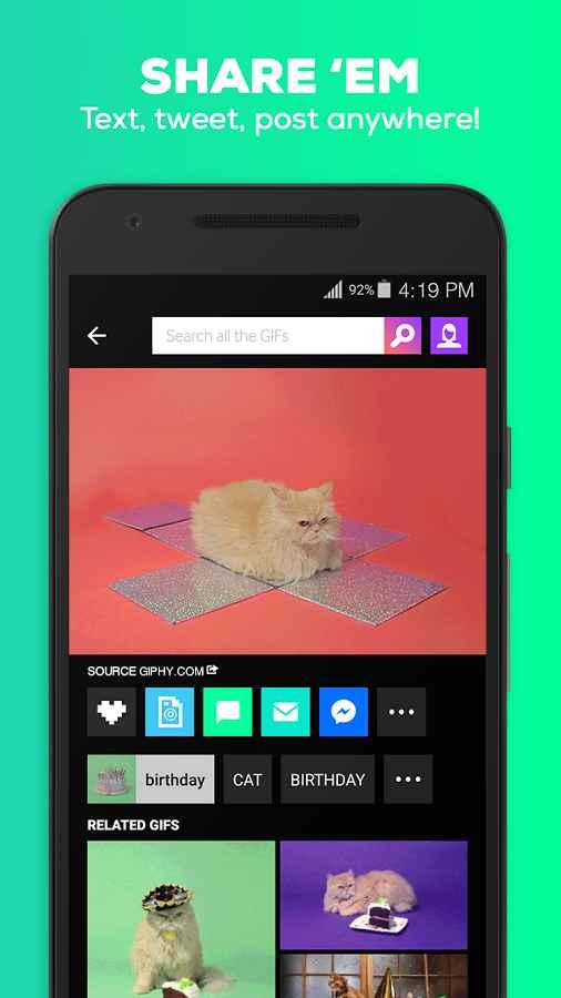 دانلود GIPHY - Animated GIFs Search Engine 3.6.0 - مجموعه تصاویر گیف اندروید !