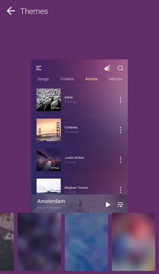 دانلود GO Music - Free Music, Equalizer, Themes 4.1.1 - موزیک پلیر زیبا با اکولایزر قدرتمند اندروید
