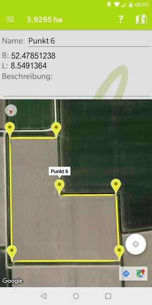 دانلود GeoField 1.0.9 - برنامه ذخیره و اندازه گیری مساحت توسط GPS اندروید
