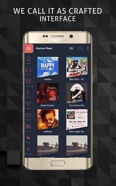 دانلود Gesture Music Player 3.0.4 - موزیک پلیر ساده و شگفت انگیز اندروید