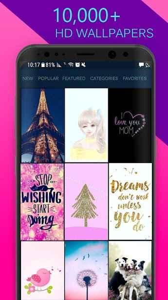 دانلود Girly Wallpapers Backgrounds 3.9 - اپلیکیشن مجموعه تصویر زمینه دخترانه اندروید