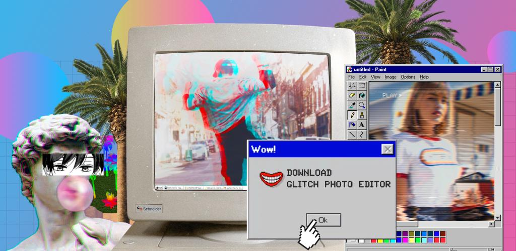 Glitch Photo Editor - glitch effect, vaporwave Premium