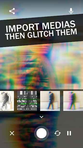 دانلود Glitch Video Effects - Glitchee Premium 1.5.7 - مجموعه افکت های زنده گلیچ اندروید !