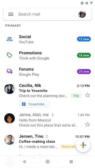 دانلود Google Gmail 2019.09.01.268168002.release - برنامه رسمی جیمیل اندروید + مود