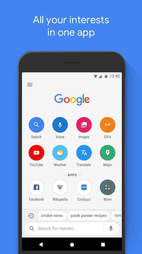 دانلود Google Go 1.6.193395289 - جست و جو سریع و آسان گوگل اندروید