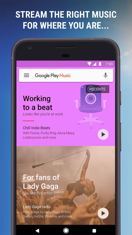 دانلود Google Play Music 8.21.8170-1.O - پلیر موسیقی گوگل برای اندروید !
