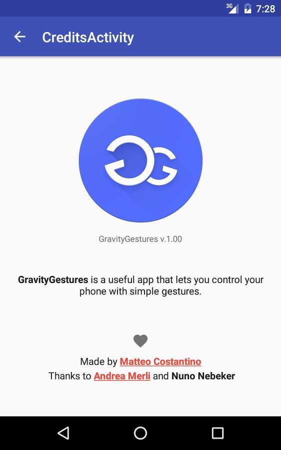 دانلود Gravity Gestures Full 1.3 - برنامه میانبر های حرکتی اندروید !