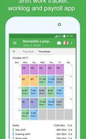 Green Timesheet - shift work log and payroll app