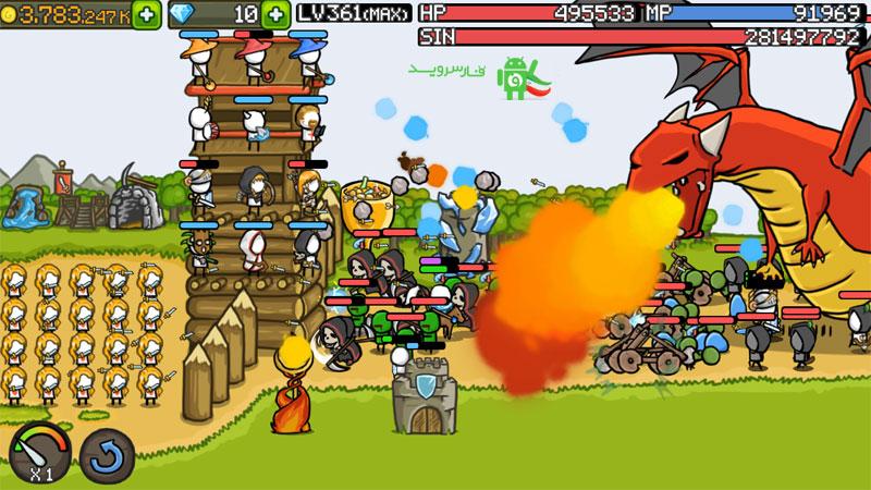 دانلود Grow Castle 1.25.2 - بازی پرطرفدار دفاع از قلعه اندروید + مود