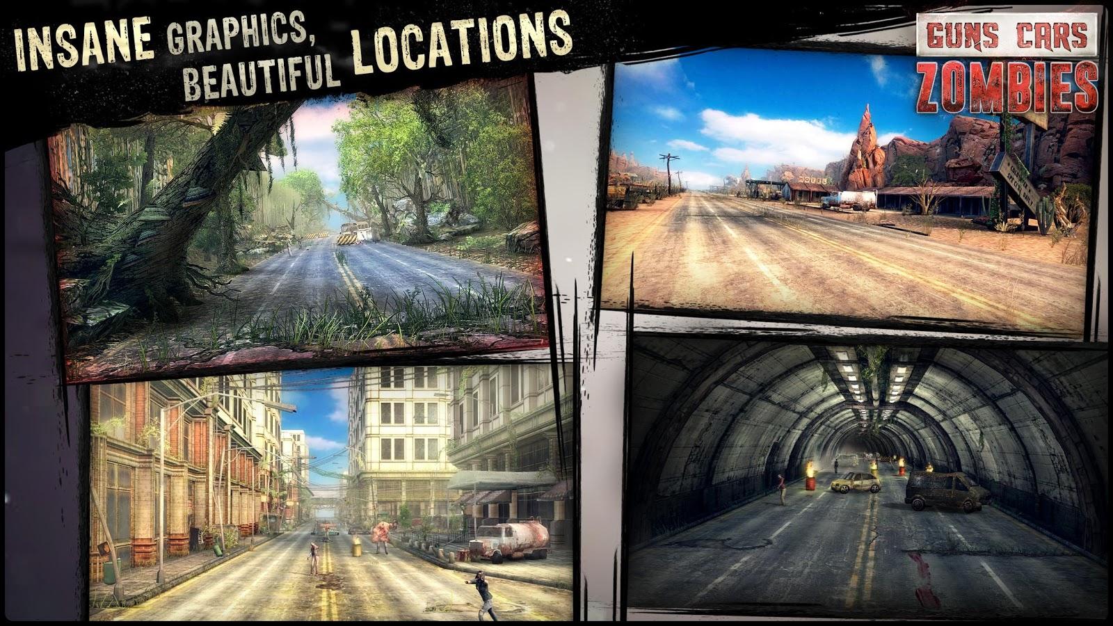 دانلود Guns, Cars, Zombies 3.1.6 - بازی اکشن بی نظیر