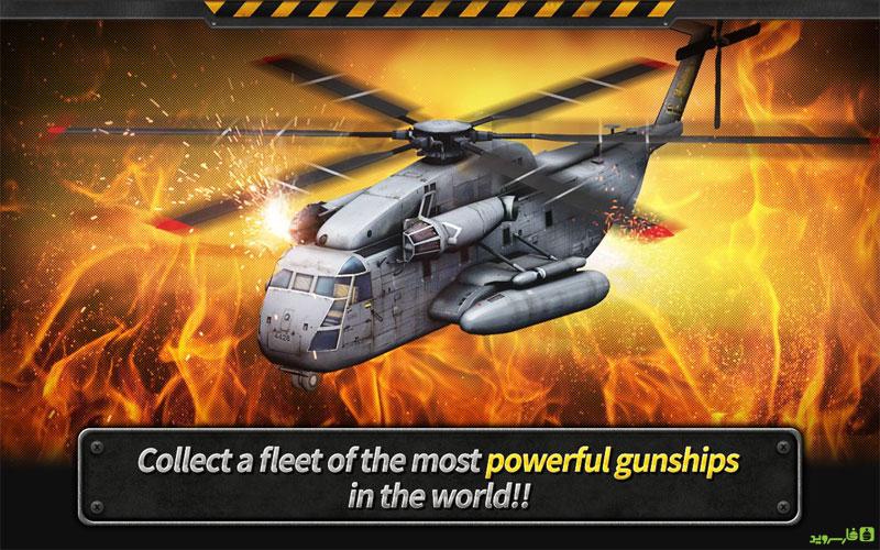 دانلود بازی هلیکوپتر جنگی GUNSHIP BATTLE Helicopter 3D برای اندروید