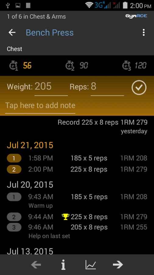 دانلود GymACE Pro: Workout & Body Log 1.9.5-pro - مجموعه بهترین تمرینات ورزشی اندروید !