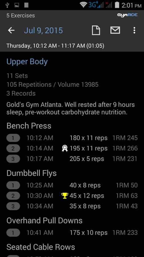 دانلود GymACE Pro: Workout & Body Log 1.9.8-pro - مجموعه بهترین تمرینات ورزشی اندروید !
