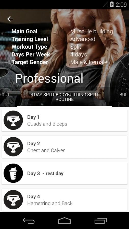 دانلود GymApp Pro fitness trainer 2.11.12 - برنامه آموزشی فیتنس اندورید