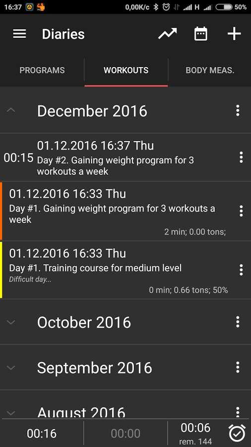 دانلود GymUp Pro workout notebook 10.32 - برنامه آموزش و ضبط نتایج پرورش اندام اندروید