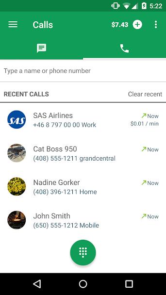 دانلود Hangouts Dialer - Call Phones 0.1.100944346 - برنامه تماس تلفنی هنگ اوت اندروید!