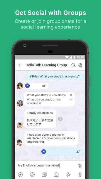 دانلود HelloTalk — Chat, Speak & Learn Foreign Languages VIP 3.2.1 - برنامه چت و یادگیری زبان خارجی مخصوص اندروید !