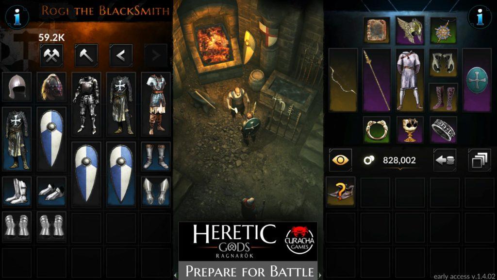 """دانلود Heretic Gods 1.08.10 - بازی اکشن و نقش آفرینی فوق العاده """"خدایان مرتد"""" اندروید + مود"""