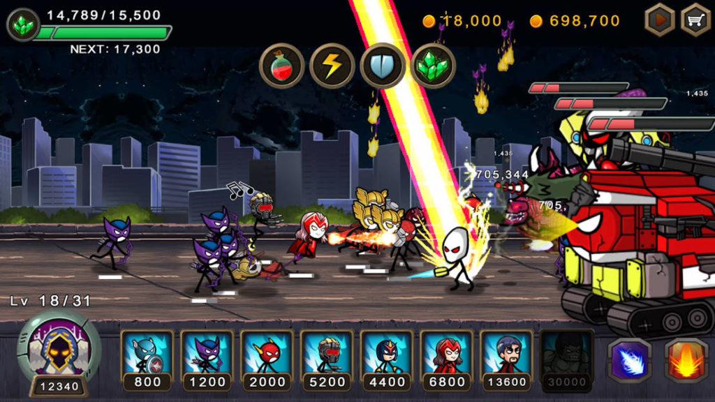 """دانلود HERO WARS: Super Stickman Defense 1.0.9 - بازی استراتژیکی """"جنگ قهرمانان"""" اندروید + مود"""