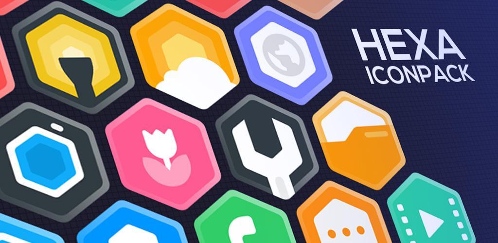 Hexa Icon Pack Hexagonal