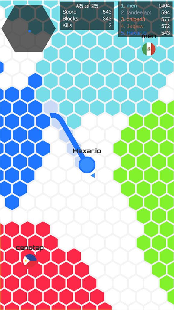 دانلود Hexar.io - io games 1.6.1 - بازی آرکید سرگرم کننده