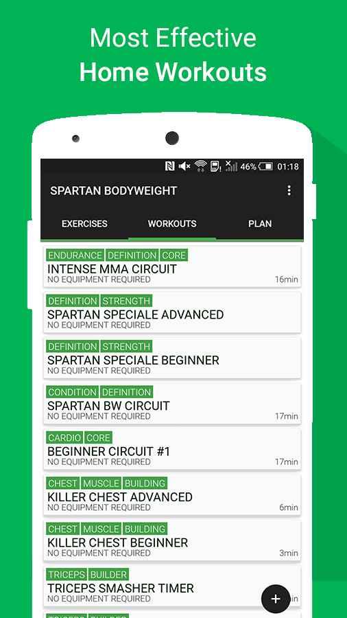 دانلود Home Workout MMA Spartan Pro 3.0.6 - برنامه تناسب اندام در خانه اندروید !