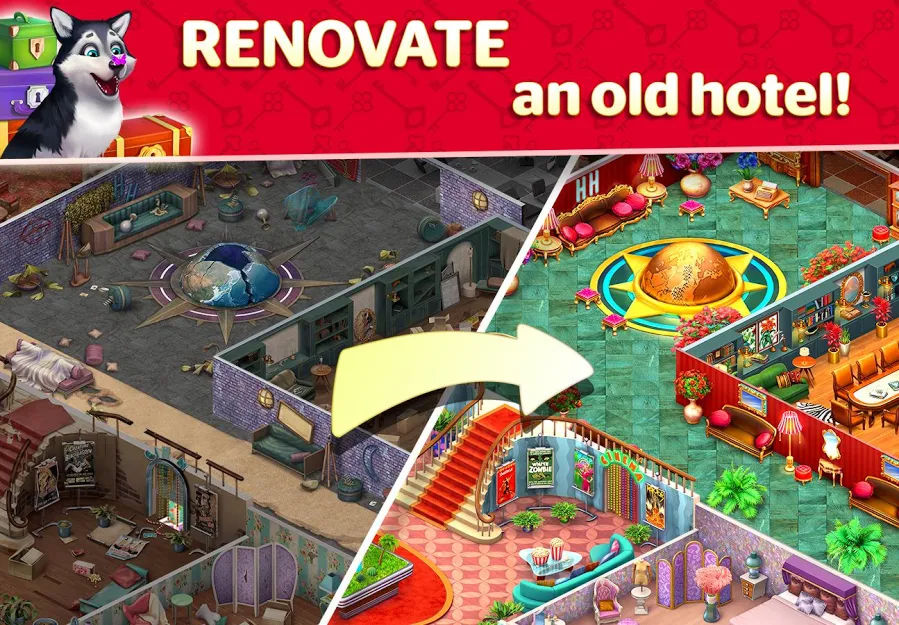 دانلود Hotel Blast 0.5.0 - بازی تفننی-مدیریتی جالب