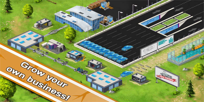 دانلود Idle Car Factory 11.7 - بازی جالب و سرگرم کننده کارخانه ماشین سازی اندروید + مود