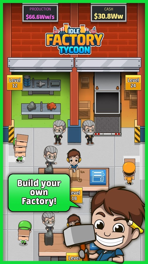 دانلود Idle Factory Tycoon 1.41.0 - بازی سرگرم کننده و محبوب کارخانه دار پولدار اندروید !