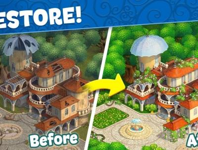 Jingle Mansion match 3 adventure story games free