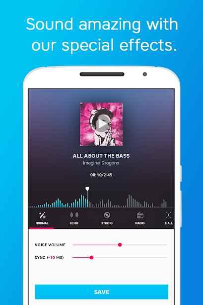 دانلود Karaoke - Sing Karaoke, Unlimited Songs VIP 3.11.074 - برنامه حرفه ای و پر امکانات کارائوکه اندروید !