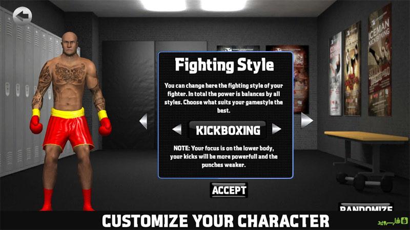 دانلود Kickboxing Road To Champion P 3.15 - بازی ورزشی کیک بوکسینگ اندروید + مود