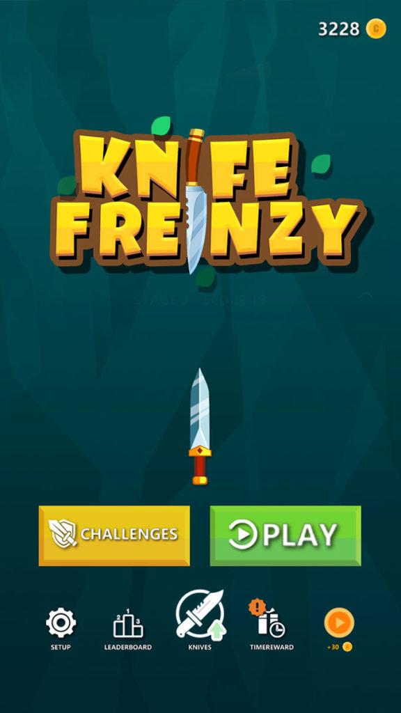 دانلود Knife Frenzy 1.1.121 - بازی آرکید چالش پرتاب چاقو اندروید + مود