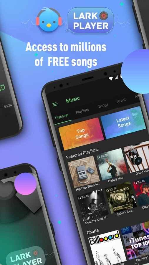 دانلود Lark Player Full —— YouTube Music & Free MP3 Top Player 3.1.5 - موزیک پلیر خاص و فوق العاده اندروید + تم ها