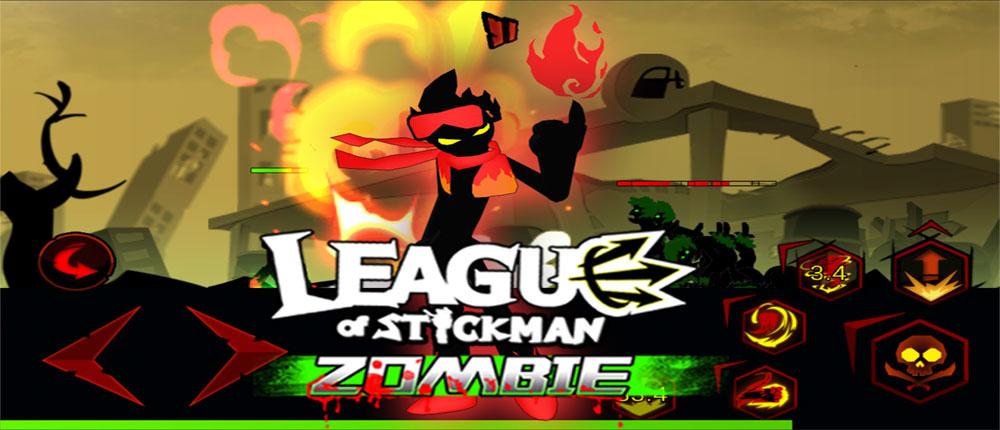 دانلود League of Stickman Zombie - بازی اتحاد استیکمن اندروید + مود