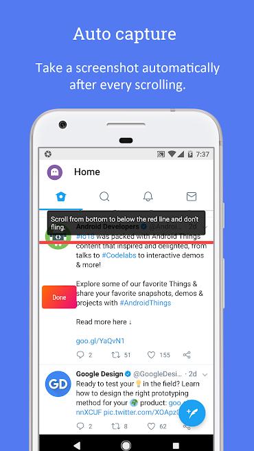 دانلود LongShot for long screenshot Full 0.99.83 - ابزار اسکرین شات طولانی و تمام صفحه اندروید + مود