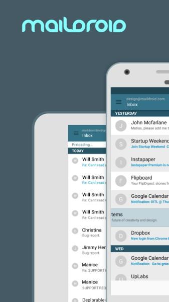 دانلود MailDroid Pro - Email App 4.92 - برنامه مدیریت سرویس ایمیل اندروید