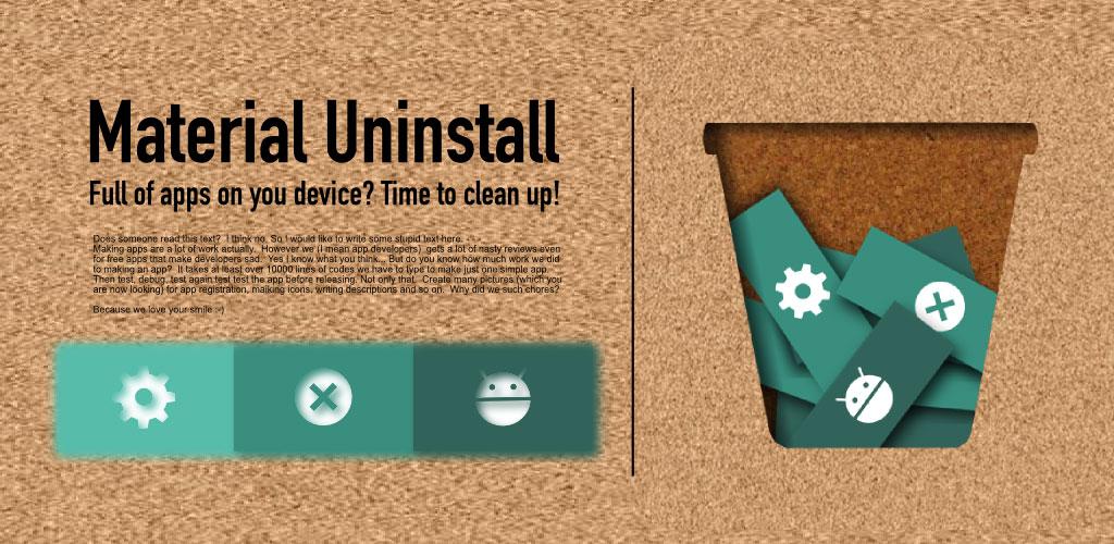 Material Batch Uninstaller