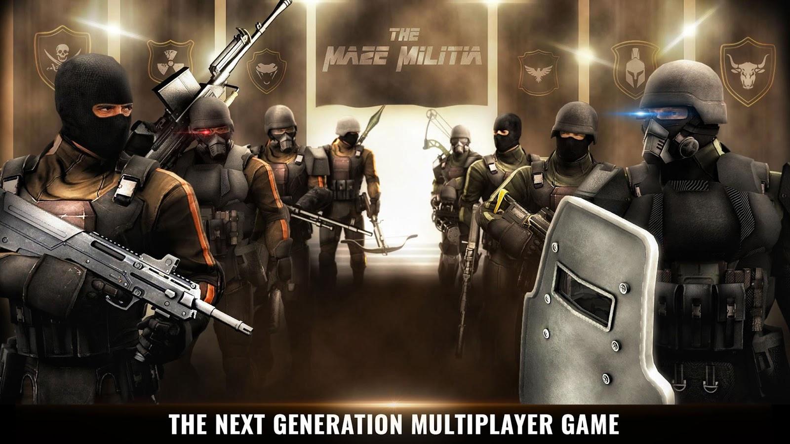 MazeMilitia: LAN Online Multiplayer Shooting Game